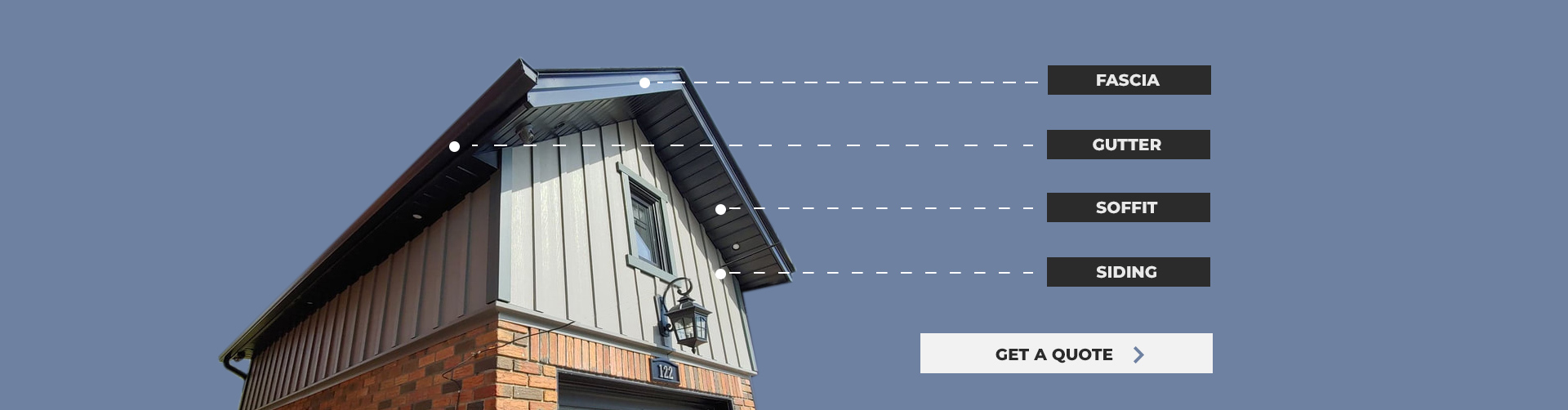 Diagram of exterior contracting services performed on Toronto home